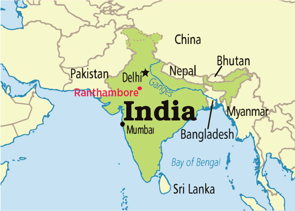 map-india-ranthambore
